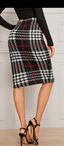 Stylish plaid skirt